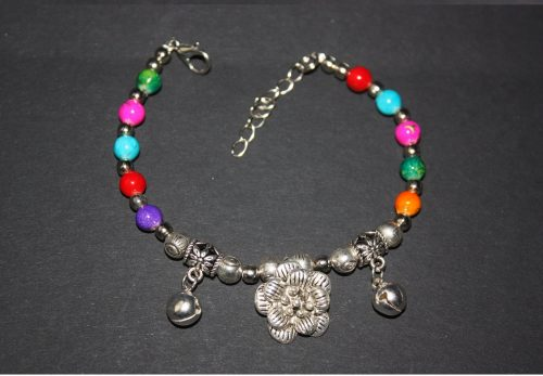 Silver Bead Bangle Family Clan