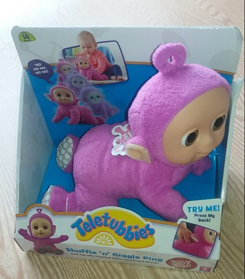 Shuffle n Giggle Pink Tiddletubbies Review Family Clan