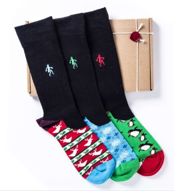 Quiet Rebellion Christmas Xmas Sock Range