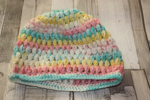 Puff Stitch Beanie Hat Family Clan