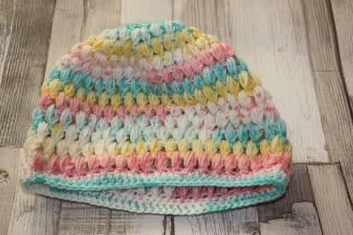 Puff Stitch Beanie Hat Family Clan