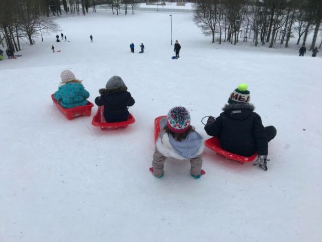 Sunday Snap 4th March 2018 Snow Sledging Family Clan