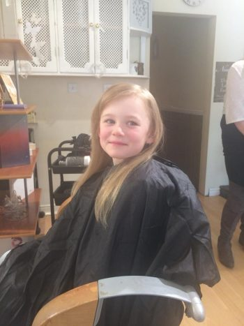 Olivia's Hair Salon Trip April 28th 2018