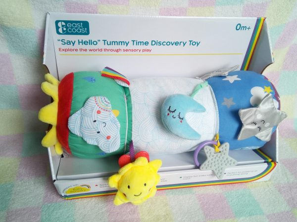 """Say Hello"" Tummy Time Discovery Toy from Baby Sensory review by Family Clan"