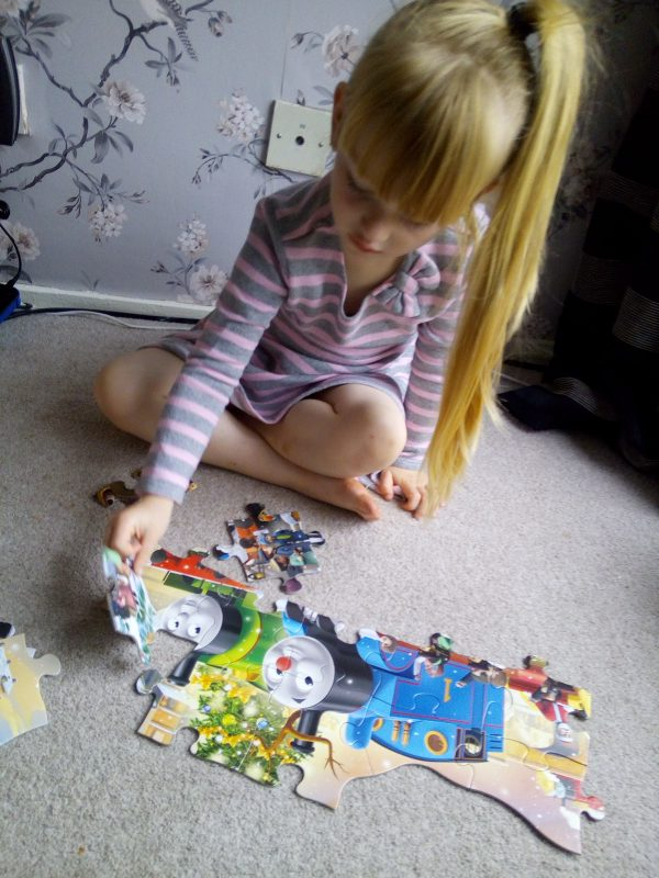 Ravensburger Thomas & Friends Giant Shaped Floor Puzzle review by Family Clan