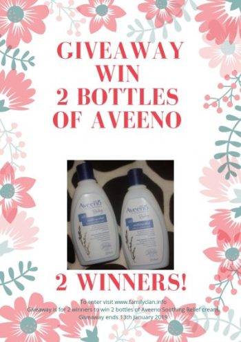 Aveeno Baby Soothing Relief Giveaway Family Clan