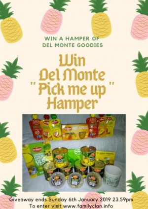 Del Monte Pick me up hamper Giveaway Family Clan