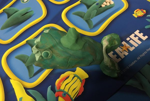 Blackpool Sea Life Centre Feb 2019 Family Clan PlayDoh Shark Olivia