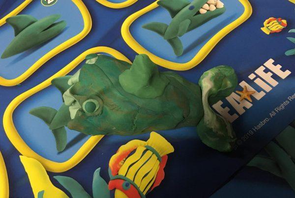 Blackpool Sea Life Centre Feb 2019 Family Clan PlayDoh Shark Olivia