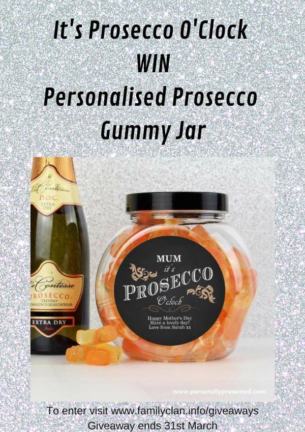 It's Prosecco O'Clock WIN Personalised Prosecco Gummy Jar Family Clan