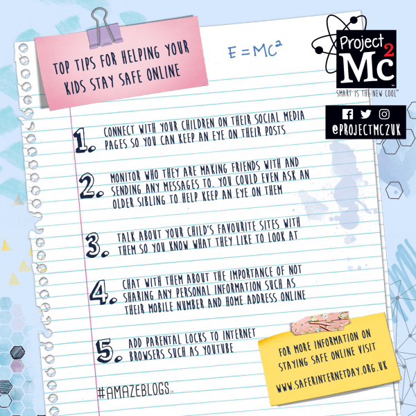 Project Mc2 top tips for Safe Internet Day 2 Project Mc2 review by Family Clan