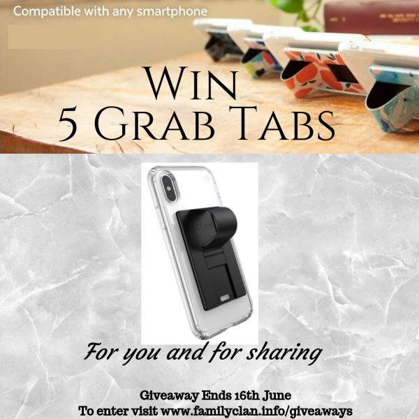 Win 5 GrabTabs Grab Tabs Speck Social giveaway Family Clan