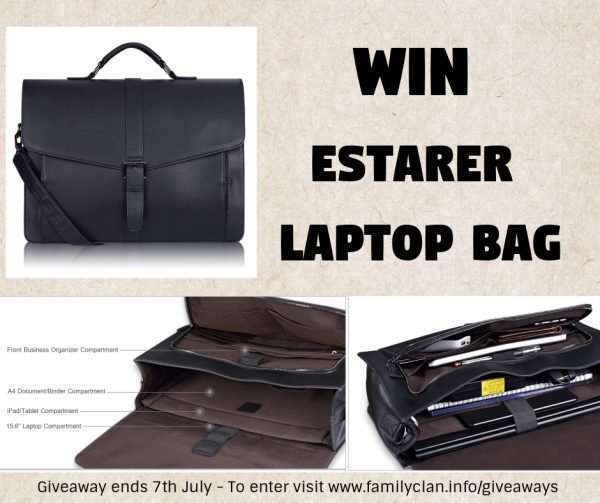 Win Estarer Laptop Bag Giveaway Poster for Facebook Family Clan
