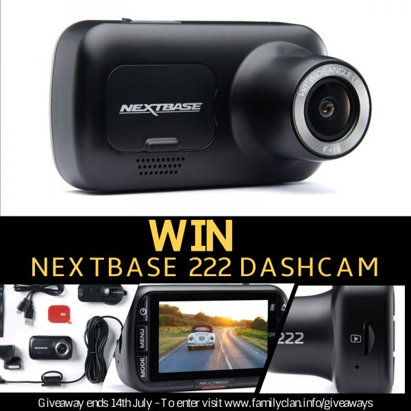 Win a Nextbase Dashcam giveaway poster Family Clan
