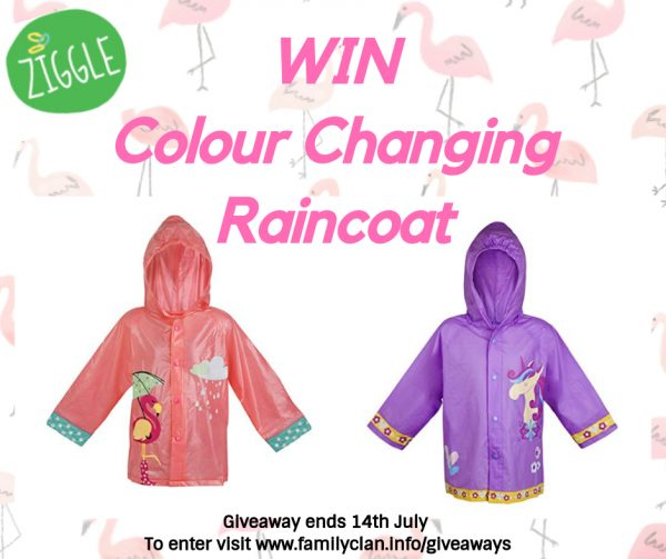 Win a Ziggle Raincoat Giveaway Facebook Poster Family Clan