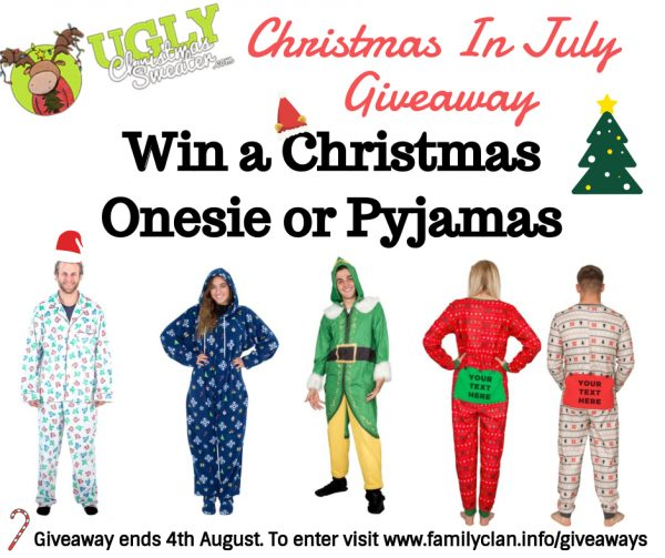 Win Christmas In July Giveaway poster for Facebook Family Clan