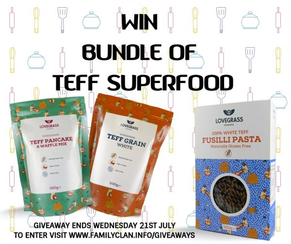 Win Lovegrass Teff Giveaway Poster for Facebook Family Clan