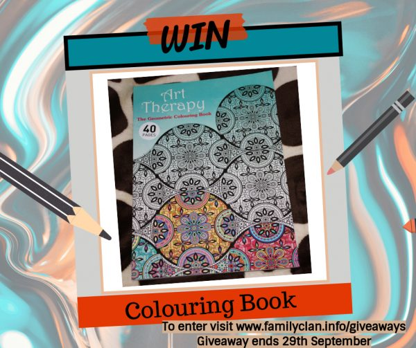 Win a Colouring Book Giveaway Family Clan