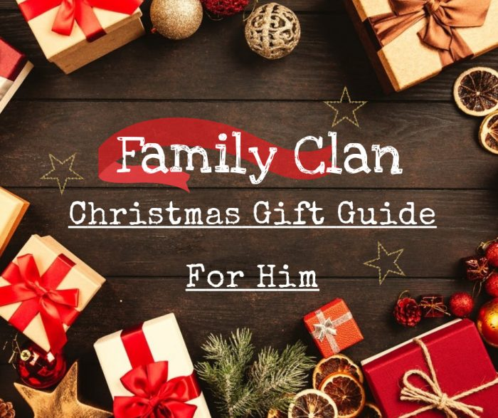 Family Clan Christmas Gift Guide For Him
