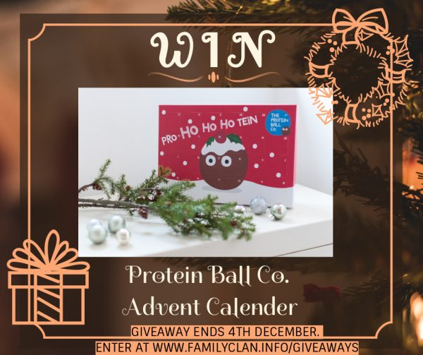 Win Protein Balls Co Giveaway Poster amily Clan