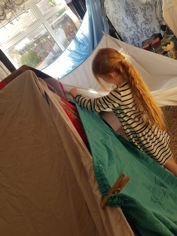 den making using sheets
