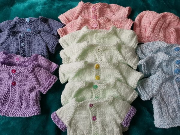 Jack & Jill Knitted Premature Preemie Baby Cardigan Jacket Family Clan