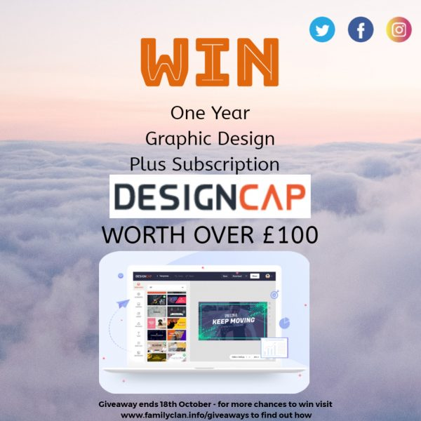 DesignCap giveaway for FamilyClanBlog - Made with DesignCap