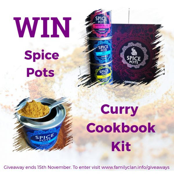 Win Spice Pots and a Curry Cook Book Family Clan