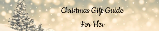 Christmas Gift Guide Banner - For Her - Made with DesignCap Family Clan