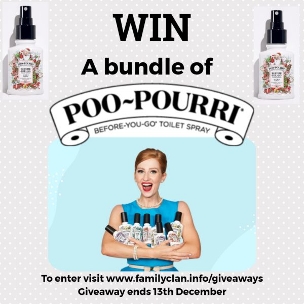 Poo-Pourii Giveaway Poster - Made with DesignCap Family Clan