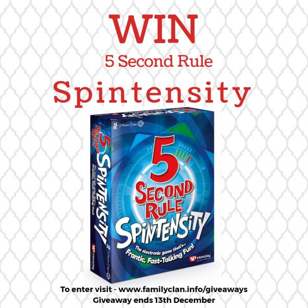 Win 5 Second Spintensity Giveaway - Made with DesignCap Family Clan