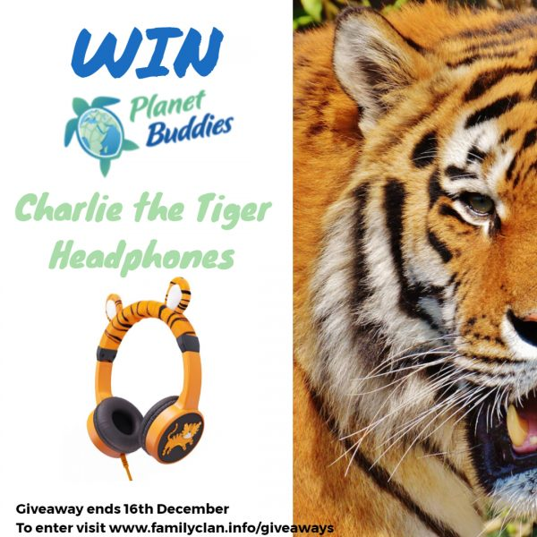 Win Planet Buddies Charlie The Tiger Headphones Giveaway Family Clan - Made with DesignCap