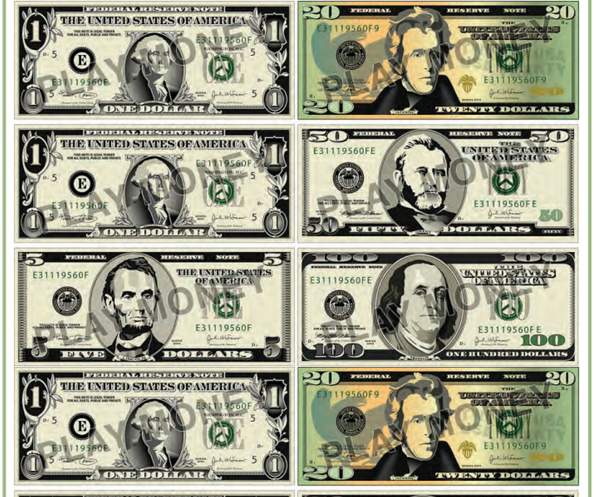 Satisfactory Printable 100 Dollar Bill Actual Size