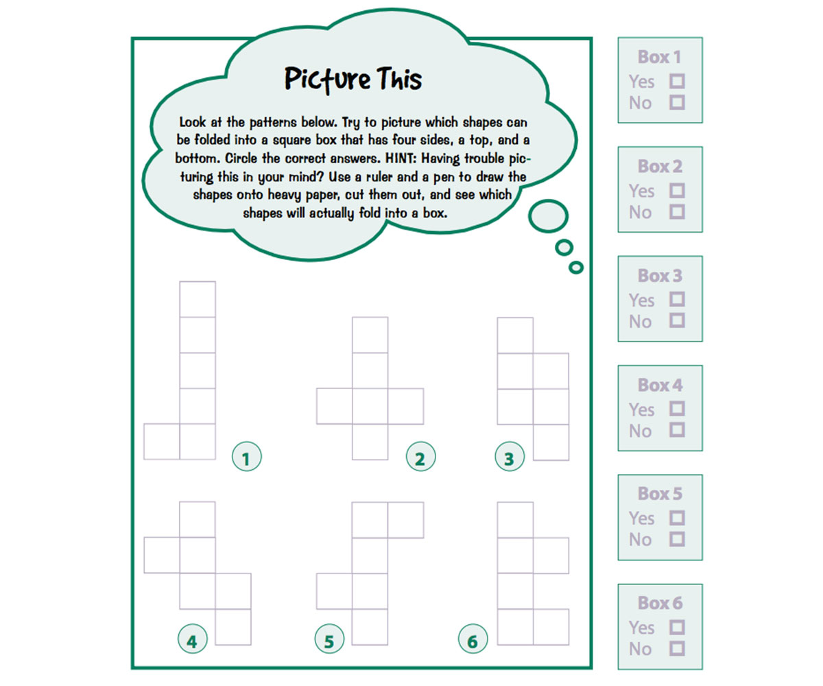 Geometry Math Puzzle Printable
