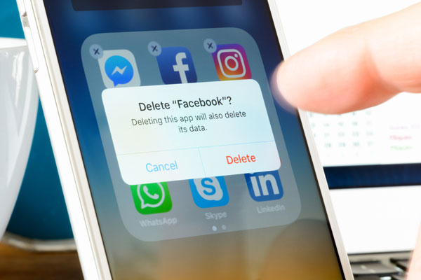 parent deleting facebook
