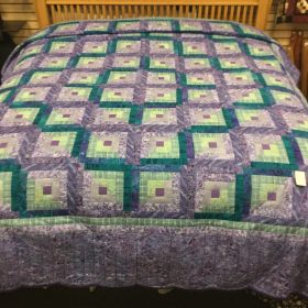 Log Cabin Quilt-King-Family Farm Handcrafts