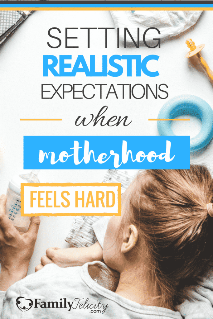 Motherhood is hard and some days it can feel overwhelming. But one powerful tool we can use as moms is to set up realistic expectations so we don't fall into the trap of mom guilt.