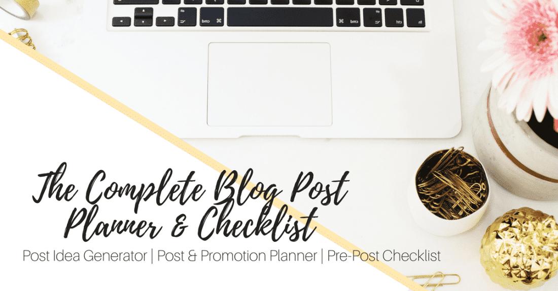 Blog Post Planner Ad