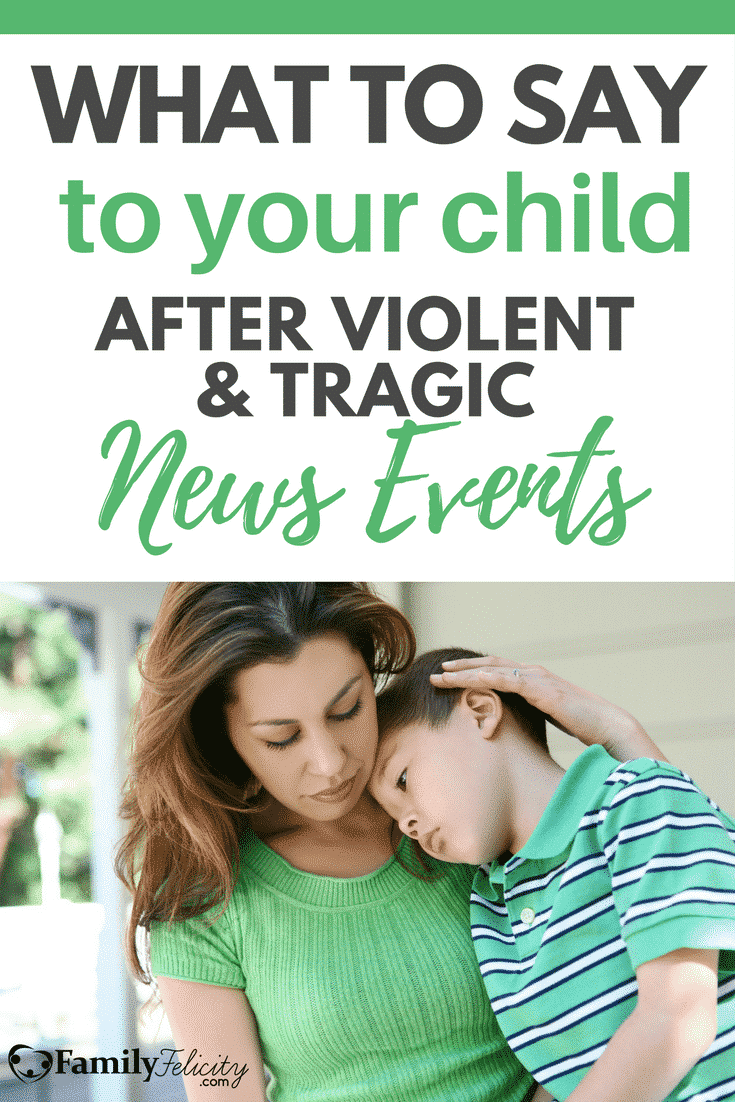 Tragic news events seem to be happening almost daily. Hearing and processing the emotions following can be hard for us, but are even harder for our children. Here's a healthy perspective and framework to share with your child to bring comfort and peace in times of senseless tragedy.