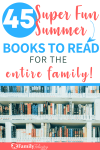 Encourage your kids to put down their electronic devices and dive into a great new book with this super fun summer reading list for kids! #books #reading #booklist #familyfun