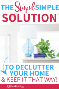 Clutter doesn't have to take over your home. This crazy simple declutter solution will keep your home clutter free for good! Click to get the plan! #declutter #organizing #organization #organisation
