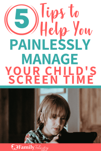 Are the kids over doing it with the electronic devices and TV? End the screen time struggles today with these 5 tips to help you effectively manage screen time! #parenting #kidsandparenting #momadvice