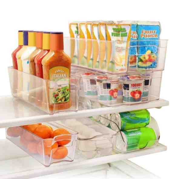 Clean refrigerator bins