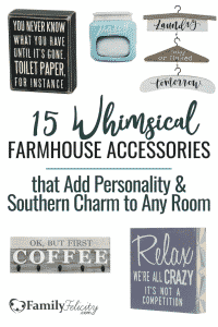These whimsical farmhouse style decor accessories are fun and add tons of personality to any room in your home. They make the best gifts! #farmhouse #decorideas #home #design #decorating