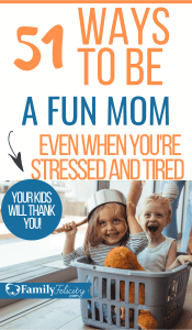 Feeling stressed lately? Try having some fun with your kids on purpose! This list is full of easy ways to be a fun mom today! #kidsandparenting #parenting #parentingtips #kids #momadvice