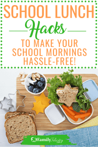 Back to school mornings can be really hectic. This fool proof systems allows you to make healthy school lunches without the hassle! #backtoschool #school #organizing #parenting #kids #lunch