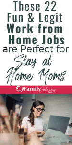 Want to earn extra money on the side from home? These work from home jobs are perfect for stay at home moms! #earnmoney #money #finance #sidehustle #workathome #momlife
