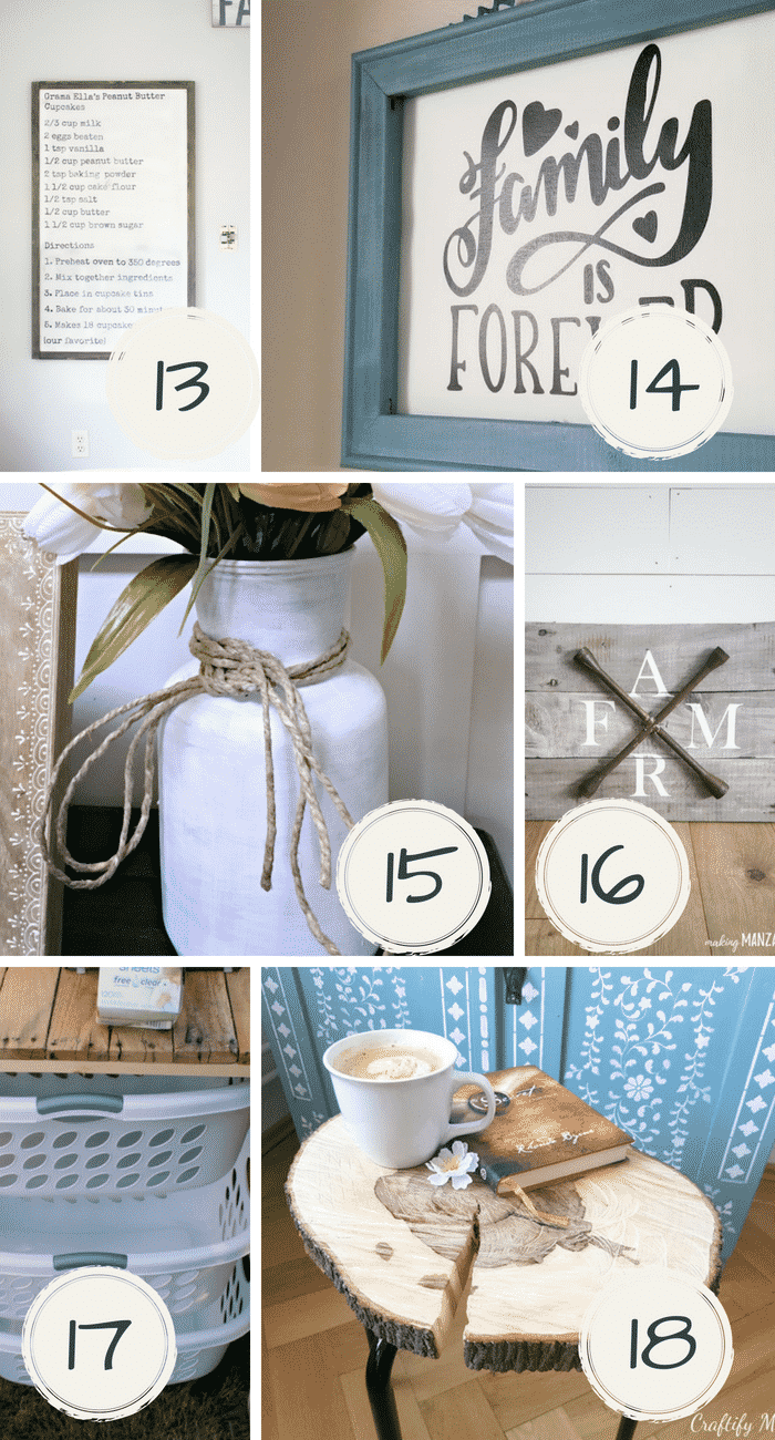 Not only will these DIY farmhouse decor projects make your home look amazing, they are super easy to do!