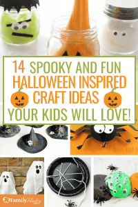 These silly and spooky Halloween inspired crafts for kids will have your home decorated easily for Halloween and keep your kids happy and having fun! #crafts #kids #craftsforkids #DIY #home #parenting
