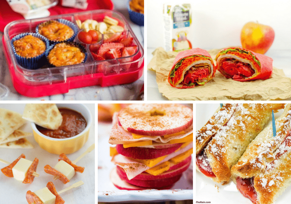 These healthy, fun, and easy to make school lunch box ideas will bring the fun back into lunch time! #backtoschool #parenting #lunch #food #cooking